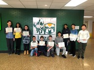 Ten Lazar students participated in the Mathematical Association of America's American Math Competition