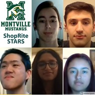 Seniors Theo Mohideen (Academics), Nicholas Amoroso (Athletics), Logan Po (Arts), Semiha Khan (Community Service) and Sofia Barragan (Leadership) were honored in a virtual ceremony by Montville Board of Education on Tuesday, February 16, 2021.